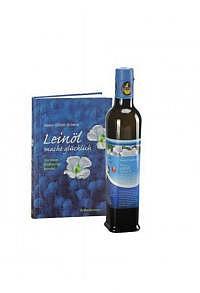 """500ml SwissOmegaPower® Premium-Leinöl & Buch """"Leinöl macht glücklich"""""""