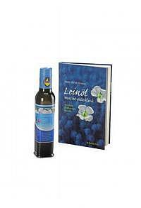 """250ml SwissOmegaPower® Premium-Leinöl & Buch """"Leinöl macht glücklich"""""""