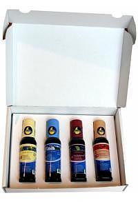 Geschenkverpackung mit vier 100ml Flaschen nach Wahl